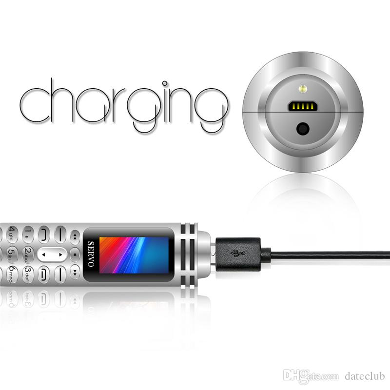 "SERVO K07 Recording Pen Mini Cellphone 0.96"" Tiny Screen GSM Dual SIM Camera Flashlight Bluetooth Dialer Mobile Phones 1Pcs ePacket"