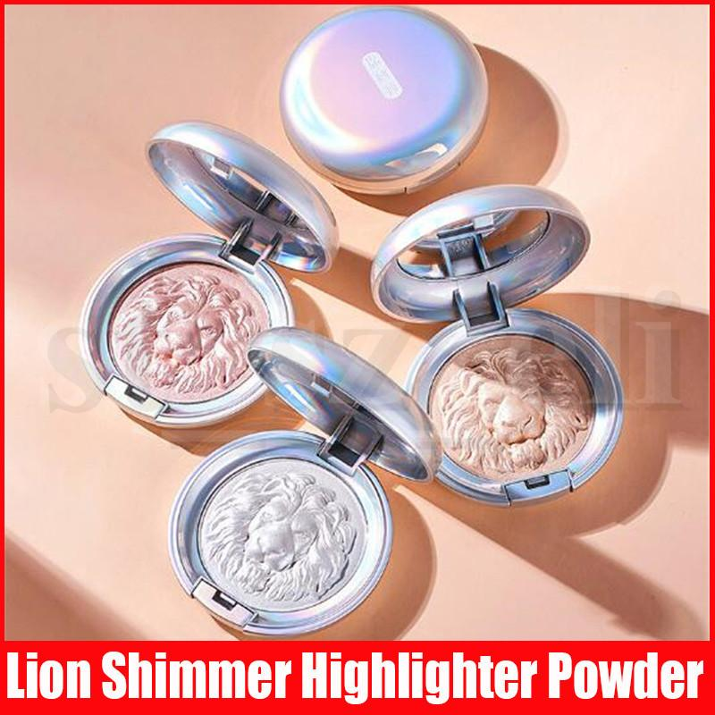 Face Makeup Highlighters Pressed Powder 3 Colors Lion Highlight Pigment Contour Bronzers Powder Specular Powdery Cake Cosmetics