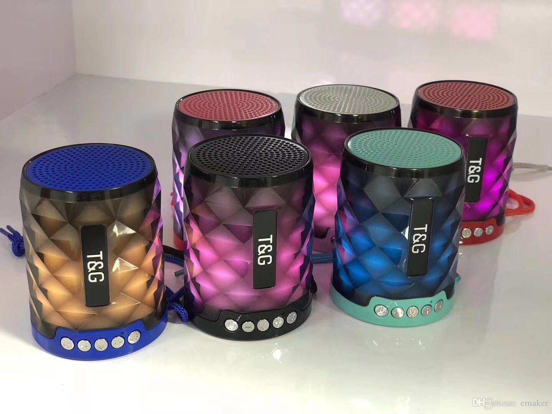 가정 전자 스피커 휴대용 스피커 제품 상세 휴대용 TG155 LED 가벼운 Bluetooth 스피커와 핸즈프리 마이크 지원 TF C