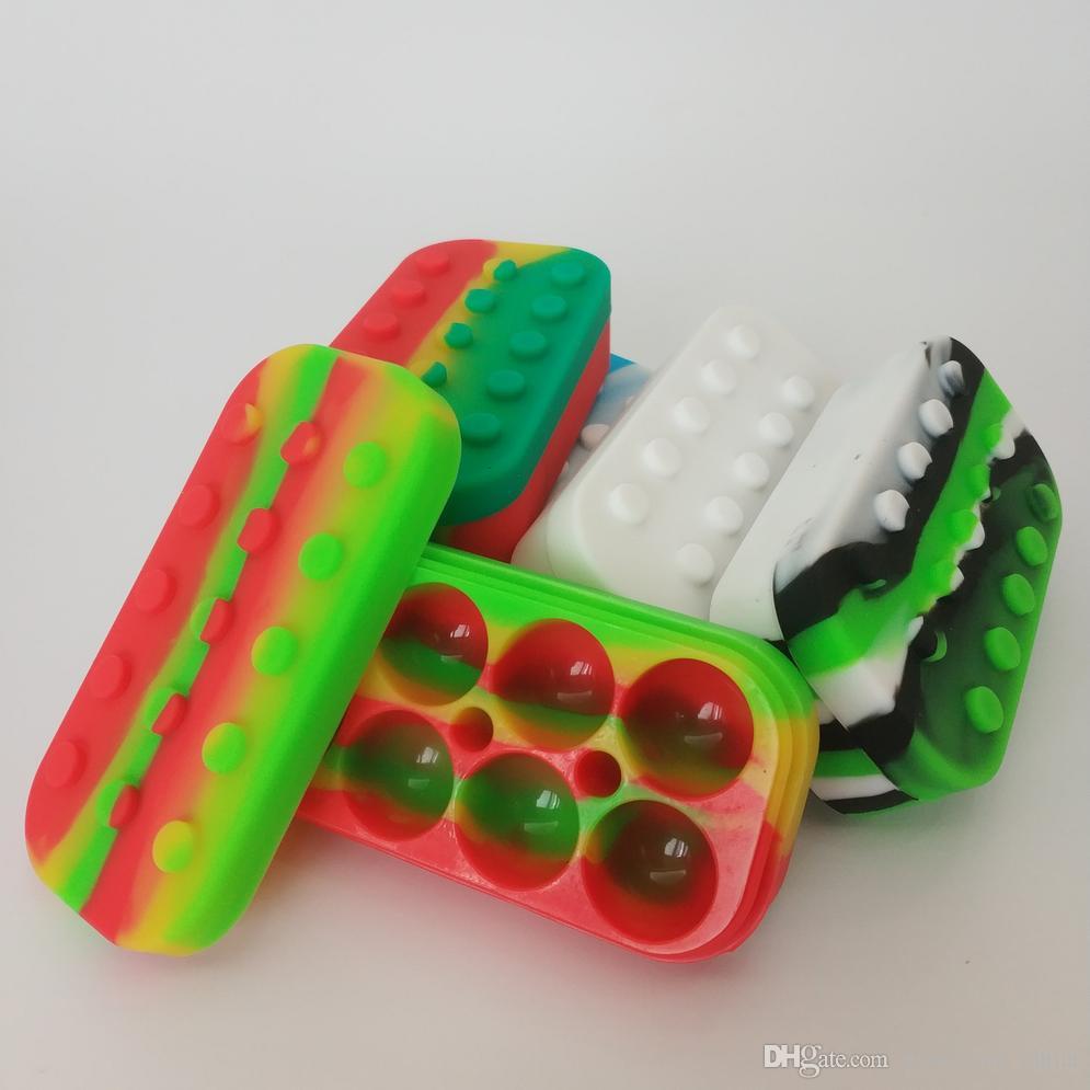 34 ml 6 + 1 Silikon Kavanoz Kutusu Yapışmaz Konteyner Gıda Sınıfı Kavanoz Aracı Pil Depolama Balmumu Yağ Tutucu 7 Compartme Ile Buharlaştırıcı Vape Için