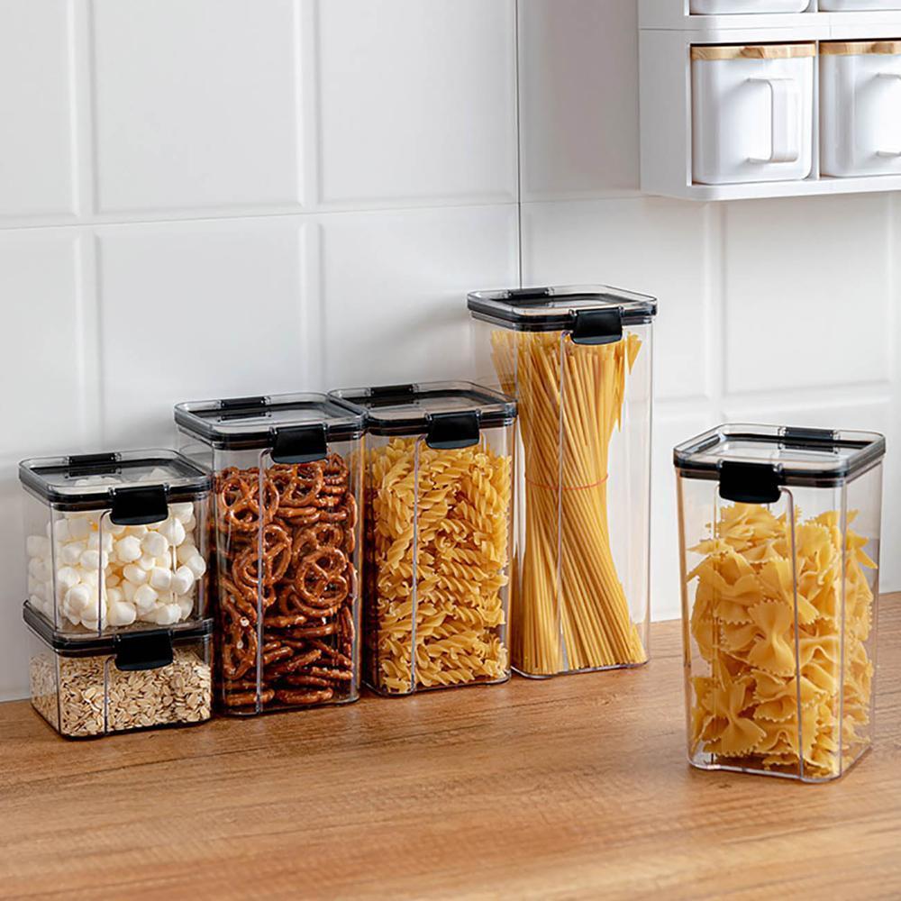 700/1300/1800 ml Alimentation Conteneur Cuisine plastique réfrigérateur Noodle Box multigrains de réservoir de stockage des boîtes scellées transparent