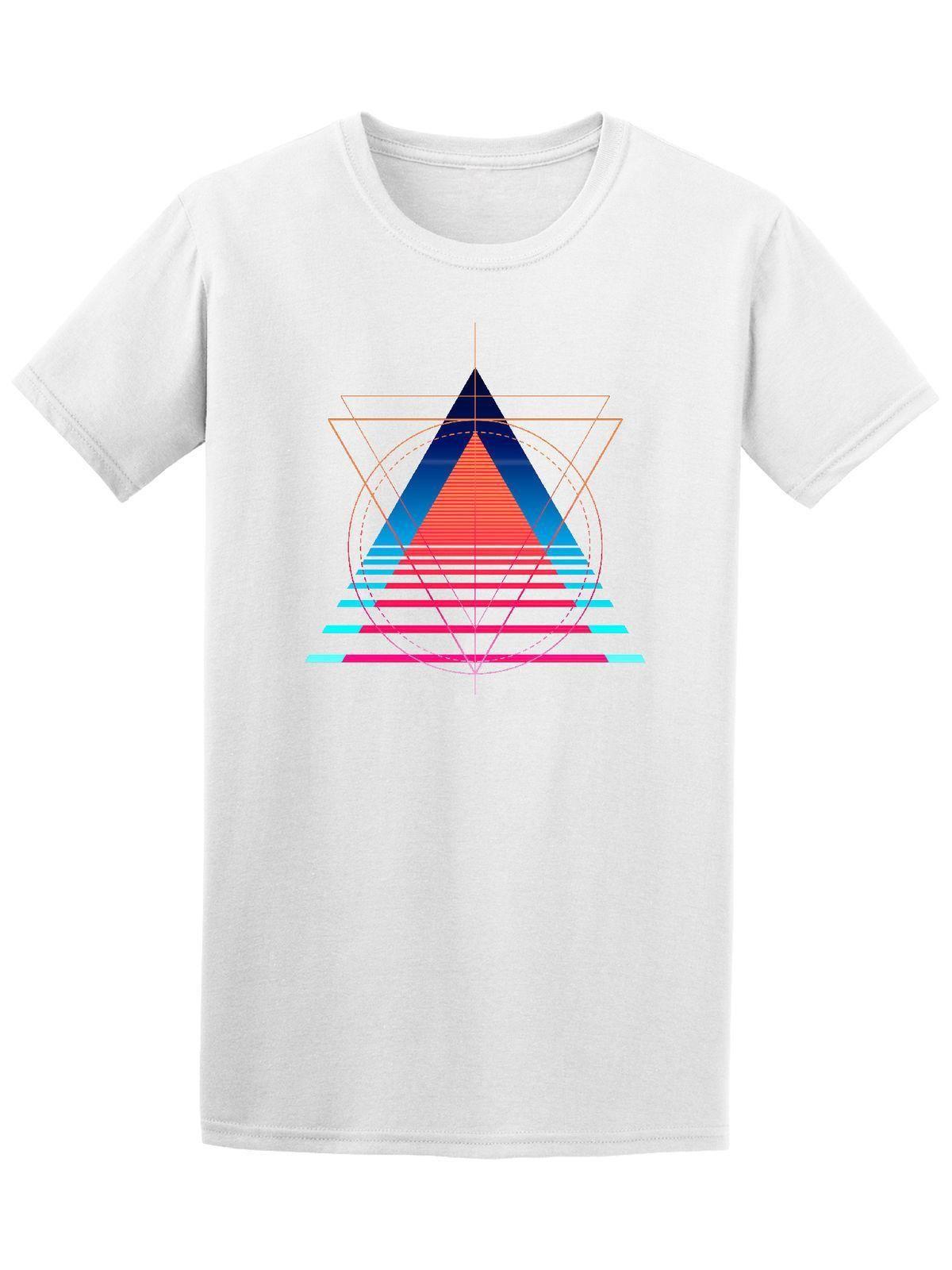 4e5dd0a4e374 Retro Geometric Abstract Triangles Tee Hipster Tees Summer Mens T Shirt  Short Sleeve T-Shirt Free Shipping