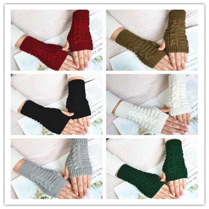 Женщины вязаные рукава рукава Multi цветов мода леди варежки держите теплые перчатки для осени зима высочайшего качества