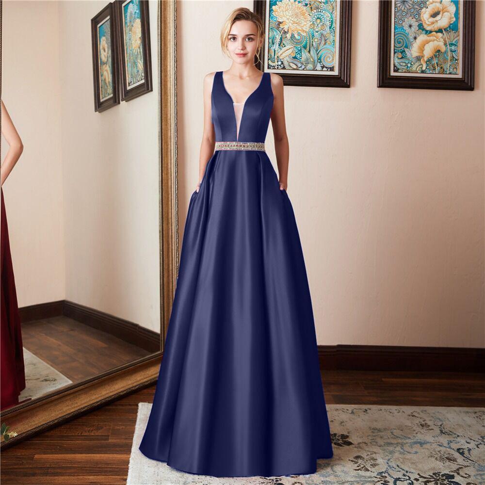 Royal Blue Red Prom Dresses V Neck Off The Shoulder Ruched Satin Custom Made Backless Sequined Evening Gowns Formal Dresses 2019