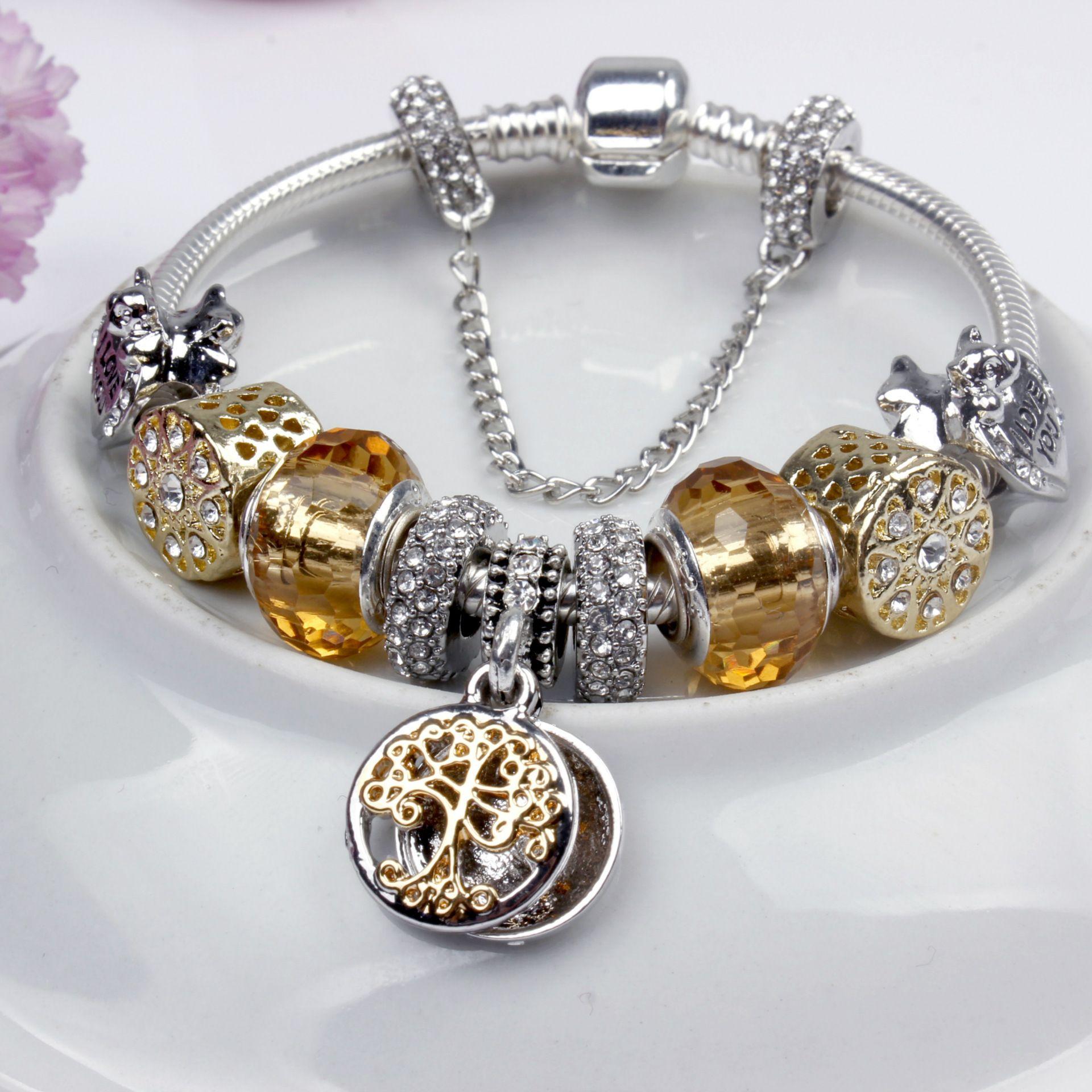 pandora gold charms