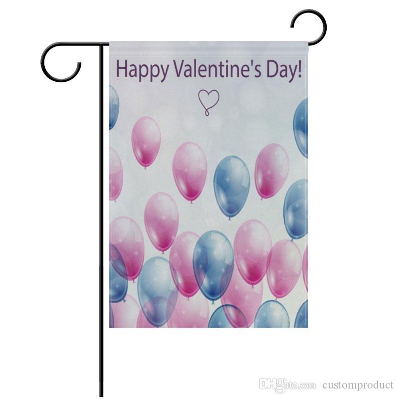 Sublimation Polyesterfaser leere Garten Flag für den Valentinstag Ostertag heißen Transferdruck Verbrauchsmaterialien Banner Flags 30 * 45cm
