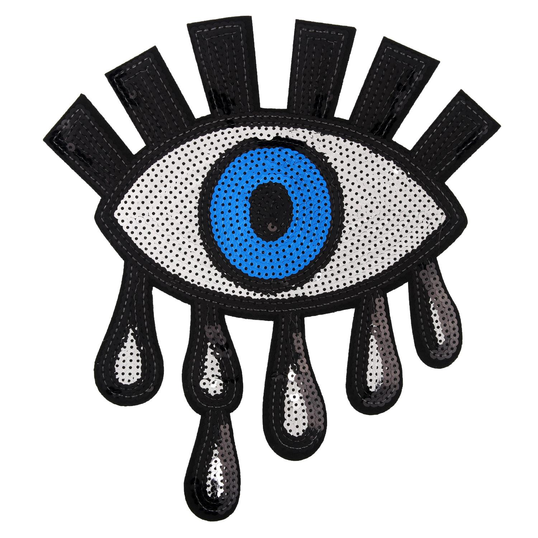 olhos olhos Big prata lantejoulas crachá de ferro de patch bordado em apliques para decoração acessórios saco