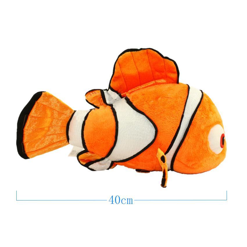 1pc 40cm del animal relleno felpa rellena muñecas creativas Nemo 3D animado de juguetes de peluche para los niños regalo de los niños