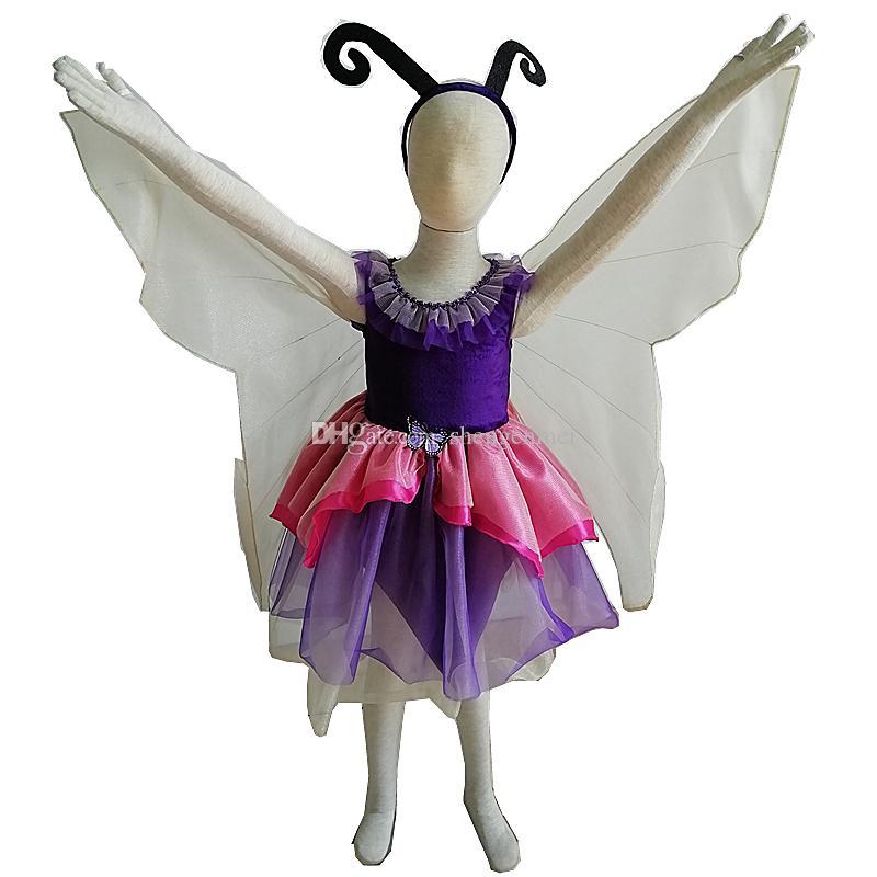 wholesale Carnival Girl Dance Princess Summer Dress Children Show Dress Skirt Baby Serve Halloween cosplay Costumes Butterfly Animal