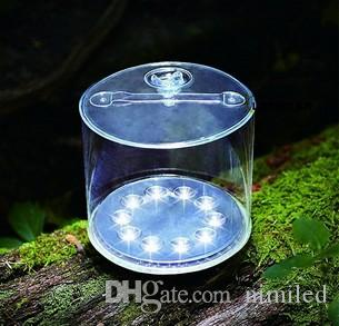 Inflatable Solar Light Rechargeable Waterproof Solar LED Lantern Lights For Camping Hiking Biking Survival Emergency Lamp LLFA
