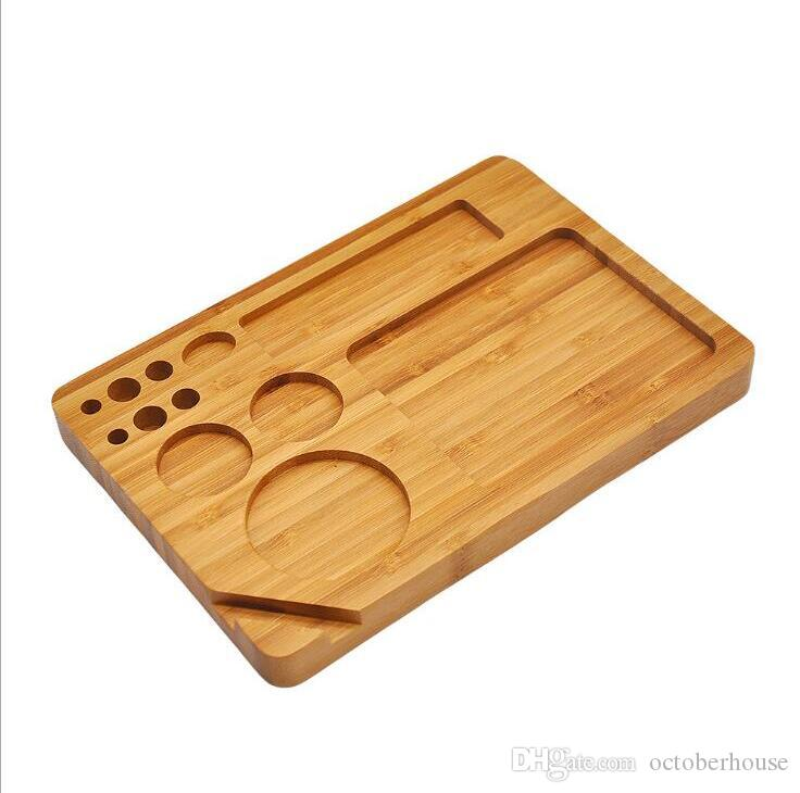 Backflip bois roulement remplissage Plateau Papiers Back Flip magnétique roulant bambou Plateau tabac à fumer Boîte en bois simple couche