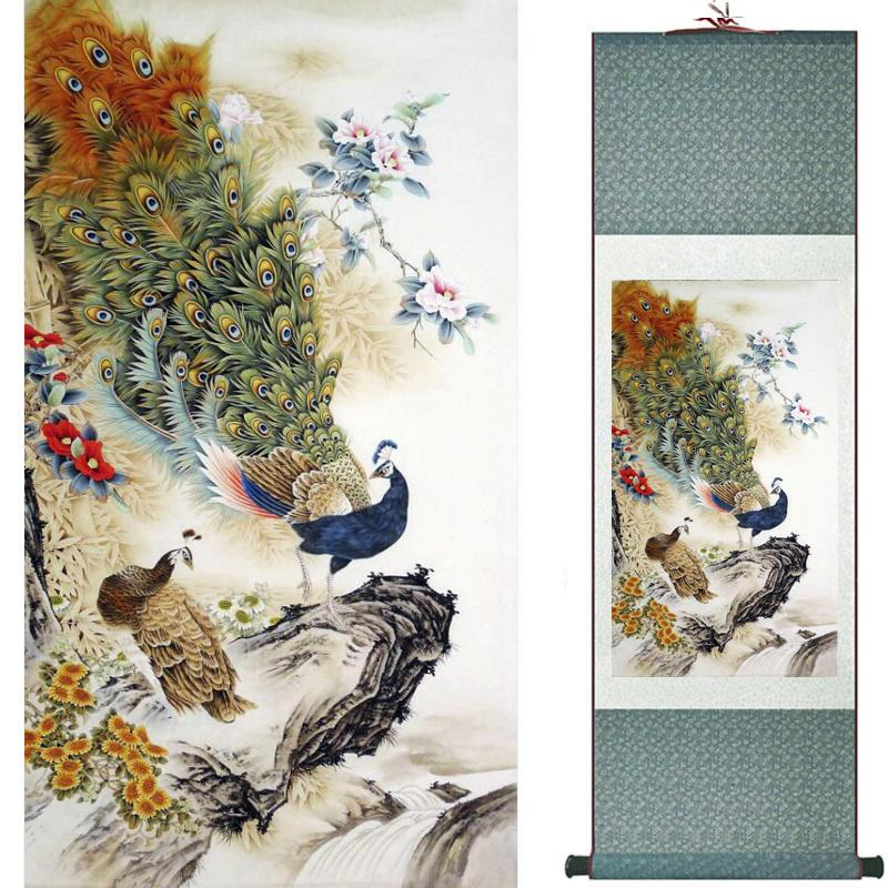 Spring Flower Painting Home Office Decoration Chinese Scroll Painting Flower Art Painting Chinese Txtx010315