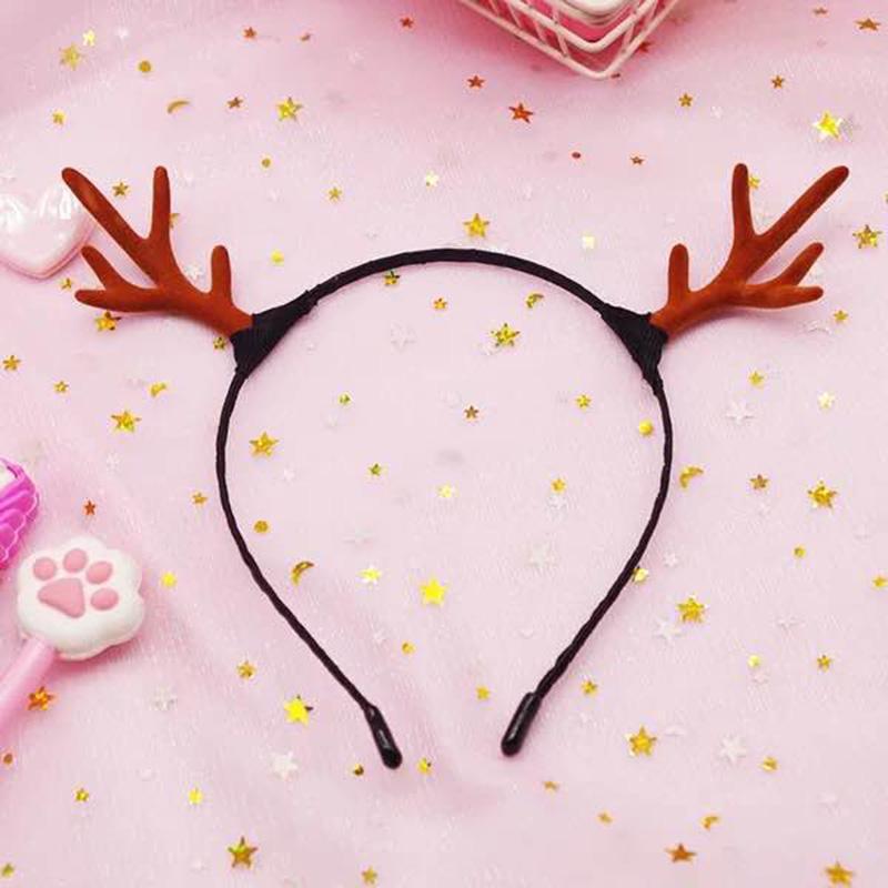 Рождество ободки аксессуары для волос головной убор свадьба праздник Рождества партия макияж милый олень рога шпилька женщина A1