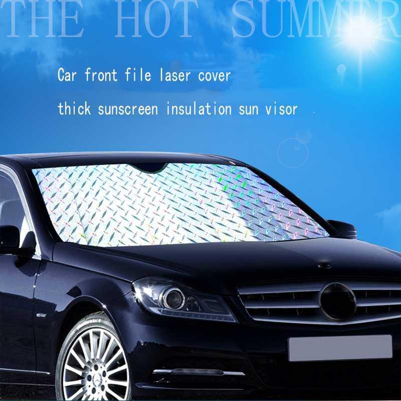 1 Adet Universal Araç Güneşlik Ön Dosya Kalınlaştırıcı Lazer Güneş kremi Güneşlik Ön Dişli Sedan Suv Off-Road Güneş Blok