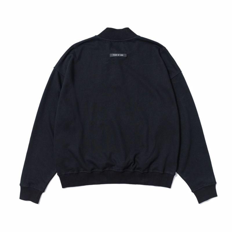 Mens Hoodies Standing Collar Button Sweater FOG ESSENTIALS High Street Fashion Loose Pullover Sweatshirt