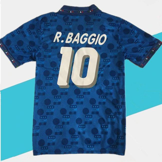 retro 1994 Itália casa maglia italia afastado Roberto Baggio MAILLOT DE PÉ survêtement camisas de futebol thai qualidade de camisas de futebol Tailândia