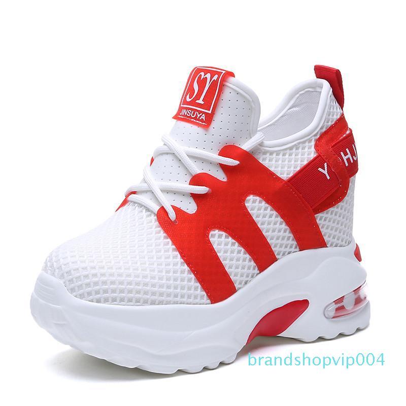 Casual estate donne delle scarpe da tennis della maglia dei pattini della piattaforma White Hot vendita-2019 10 Tacchi CM Zeppe traspirante Moda Donna Altezza