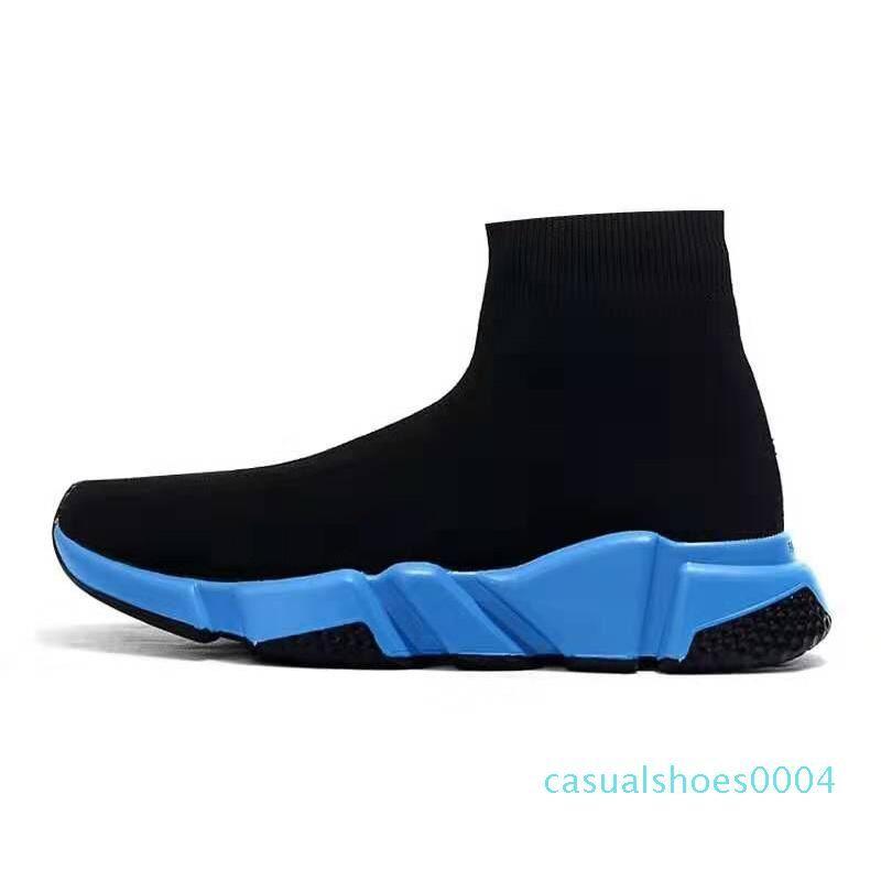 TÜM YENİ Hız Eğitmenler Örme Çorap Shore Orjinal Lüks Tasarımcı Womens Sneakers Ucuz Yüksek Üst Kalite Günlük Ayakkabılar Runner C04