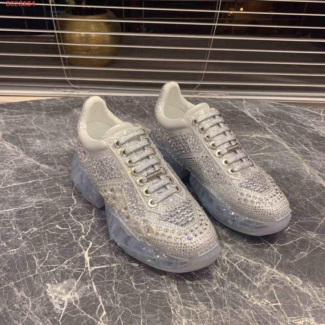 2019 nuovi Scarpe da donna in pelle e tessuti traspiranti Diamante importato di alta qualità Sneaker di alta gamma di lusso Le boutique sono esaurite