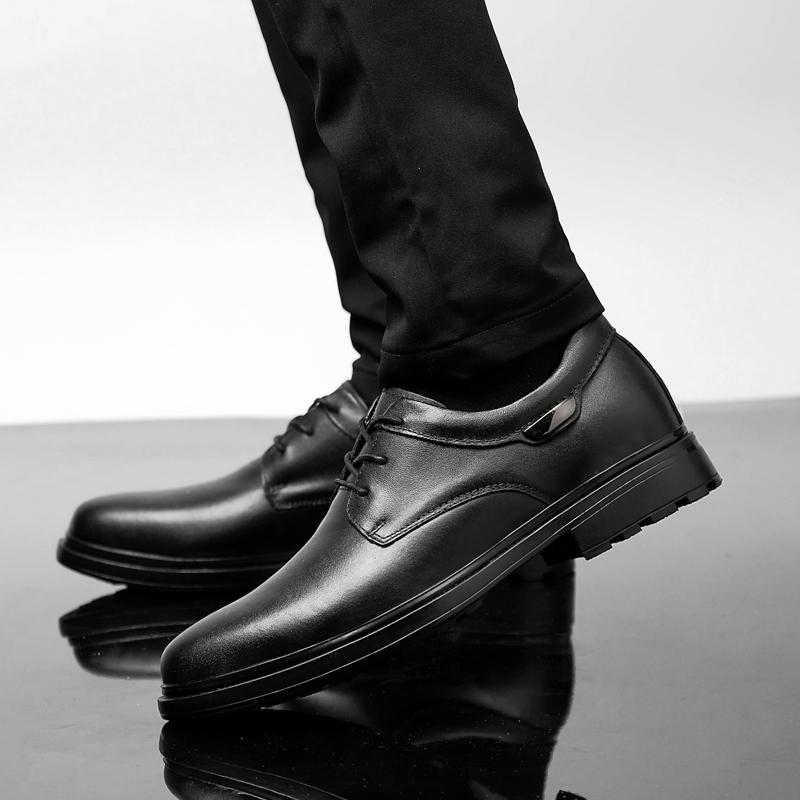 genuíno couro Concise Homens vestido sapatos de negócios preto sapatos respirável partido casamento formal básico Sapatos Moda homens grande szie 47