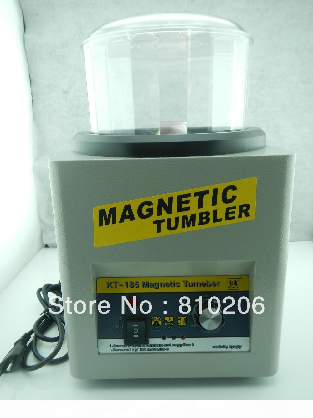 Wholesale-Free Shipping! KT-185 Magnetic Tumbler. Mini Magnetic Tumbler, Polishing Machine with 100g magnetic pins for free