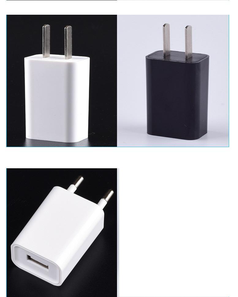 스마트 폰 블랙 화이트 100PCS를위한 5V 리얼 1.0A 1 개 USB 벽 충전기 AC 어댑터 / LOT