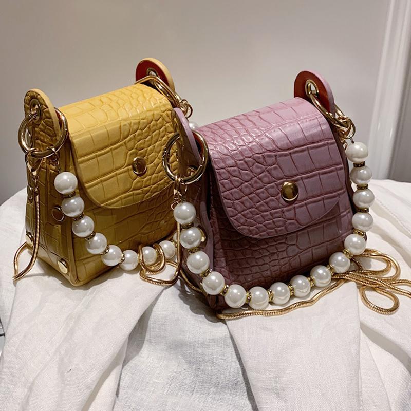 Nouveau Petit Sac messenger Sacs 2020 Sacs de perles pour les chaînes de Crossbody femmes haute qualité d'embrayage Mesdames Totes Sac
