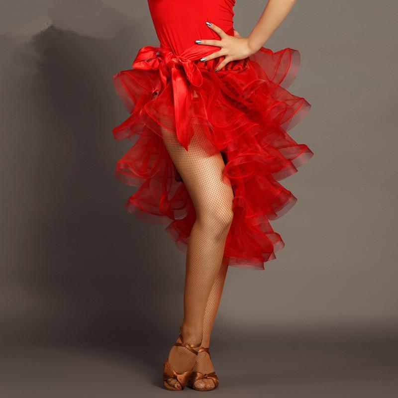 Vendita calda sexy delle ragazze delle donne economici Rosso Nero Wrap Latin Salsa Dance Skirt