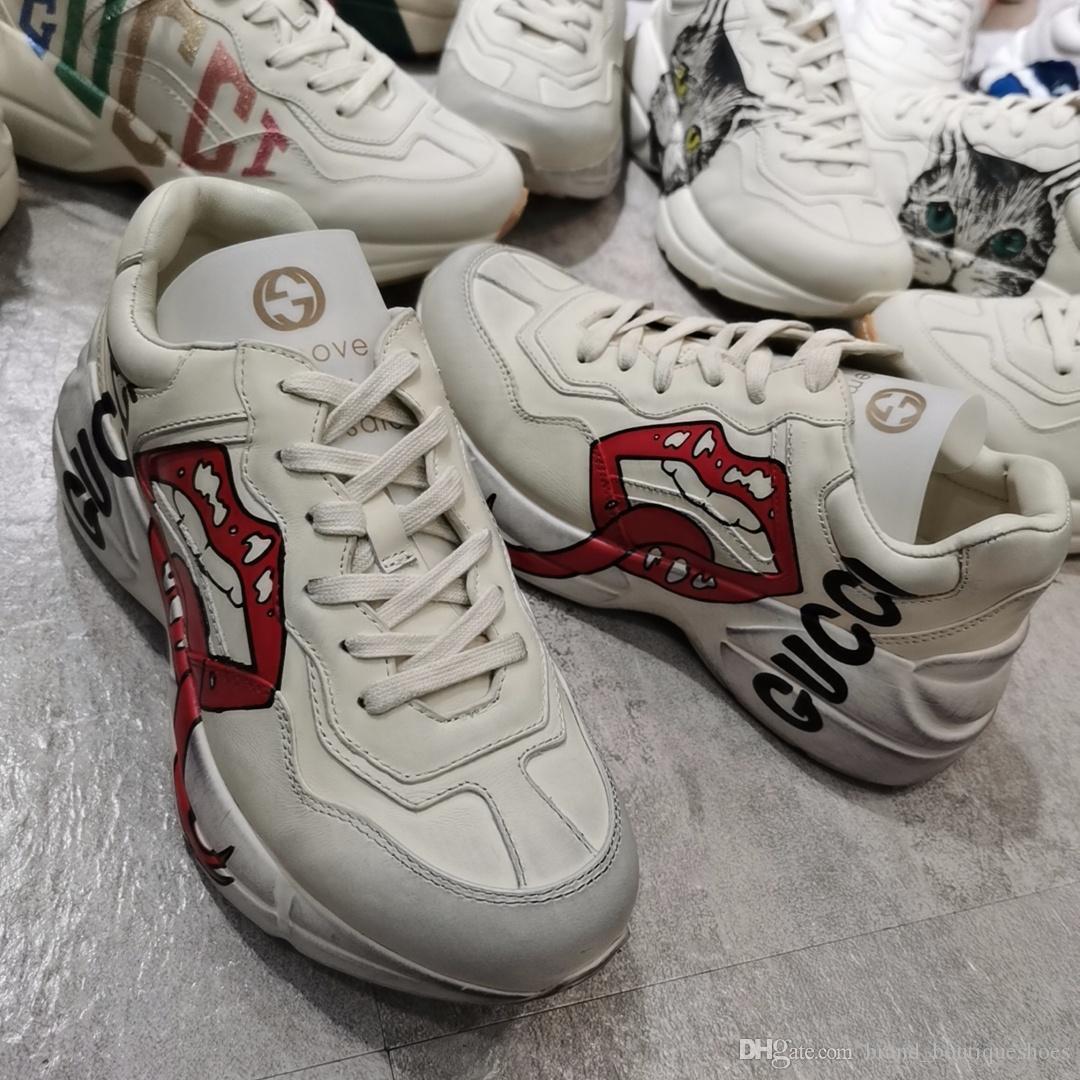 le scarpe di lusso classiche scarpe papà dimensioni paio d'epoca scarpe casual da uomo di sport donne traspirante suola spessa scarpe per il tempo libero