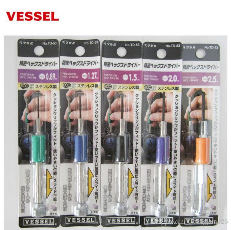 VESSEL 일본은 TD-53 육각 구멍 정밀 너트 육각 드라이버 드라이버 드라이버를 수입