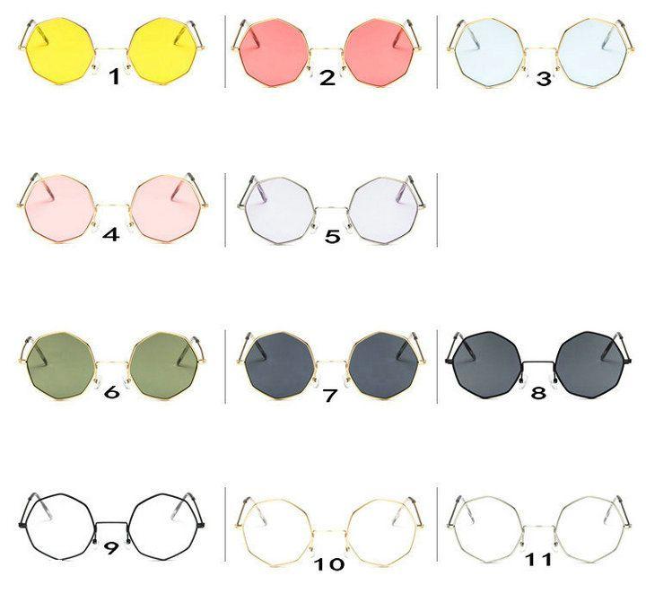 (ÇİNDE YAPILDI) 11 Renkler Kişilik Unisex dairesel çokgen Sunglass Moda Yeni Renkler spor güneş gözlüğü Güneş gözlüğü gönder.