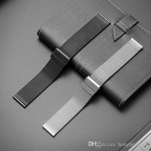 Remplacement DW acier inoxydable de maille gros accessoires montre bracelet de métal de boucle 08 de la ligne de sangle 18/20/22 / 24mm