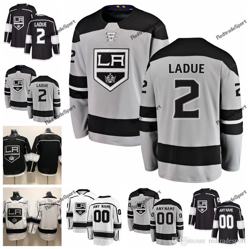 2019 Nouveau suppléant Paul LaDue Kings de Jersey de hockey sur glace maillots pour hommes Nom personnalisé Page d'accueil LA # 2 Paul LaDue Chandails de hockey cousus S-XXXL
