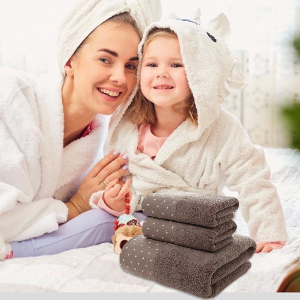 Telo da Bagno Set asciugamano di cotone Set con 2 Asciugamani e 1 telo bagno per bagno