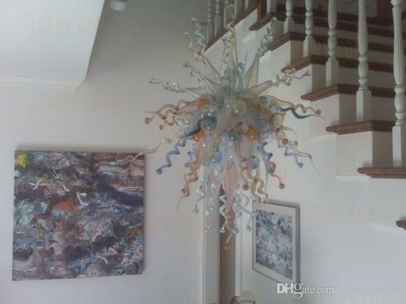 100 % 입 CE UL 붕규산 무라노 유리 데일 치 훌리 (Dale Chihuly) 예술 계단 라이트 홈 풍선 풍선 유리 펜던트 조명