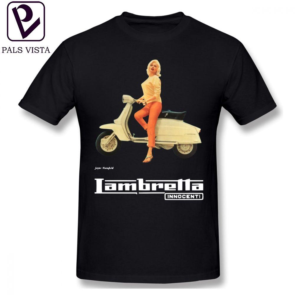 Lambretta T Gömlek Vintage Lambretta Reklam T-Shirt Adam Pamuk Tee Gömlek Sevimli Boy Baskılı Kısa Kollu Klasik Tshirt