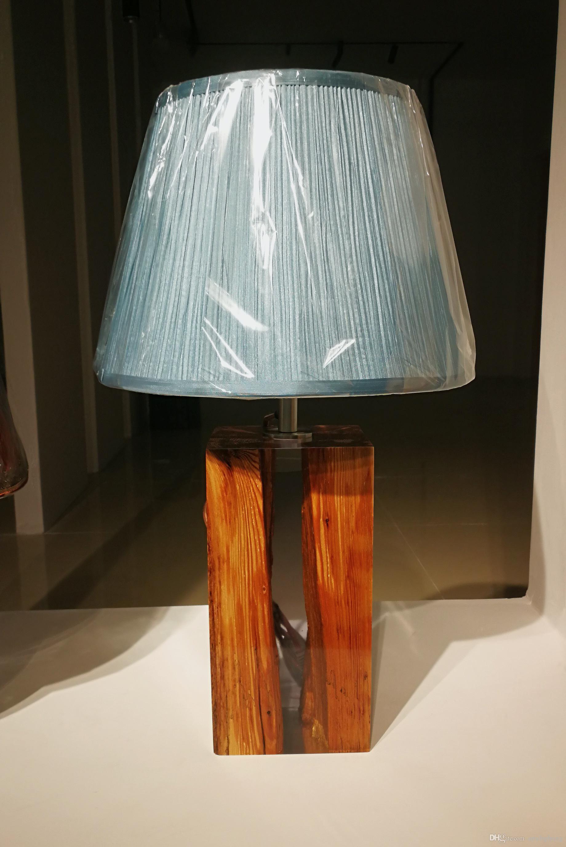 2019 Morden Wood Resin Fluid Lamp Epoxy Light Handmade Wooden Lighting Art Design Idea Highend Interior Home Decor Gallery Gift Furniture Luxury From