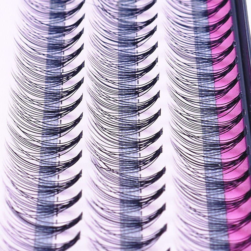 Natural Individual Lashes Extension Soft 60 Bundles False Eyelashes Extensions Black 8//10/12mm Strip Lash