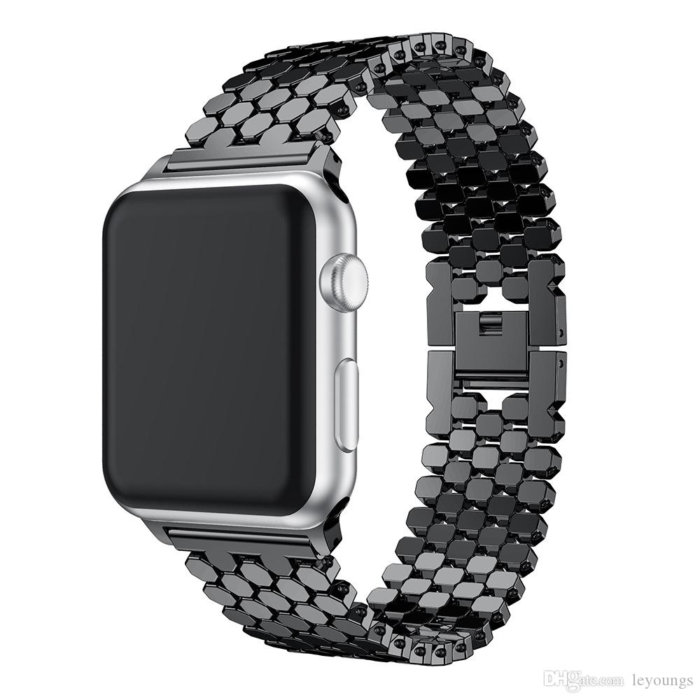 Banda de acero inoxidable para Apple Watch 38mm 40mm 42mm 44mm Correa de reloj para Apple iWatch Series 4 3 2 1 Correa Pulsera Correa
