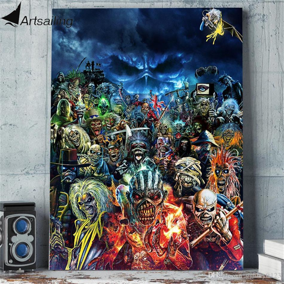 Metal Hammer- Iron Maiden,1 Pieces Home Decor HD Printed Modern Art Painting on Canvas (Unframed/Framed)