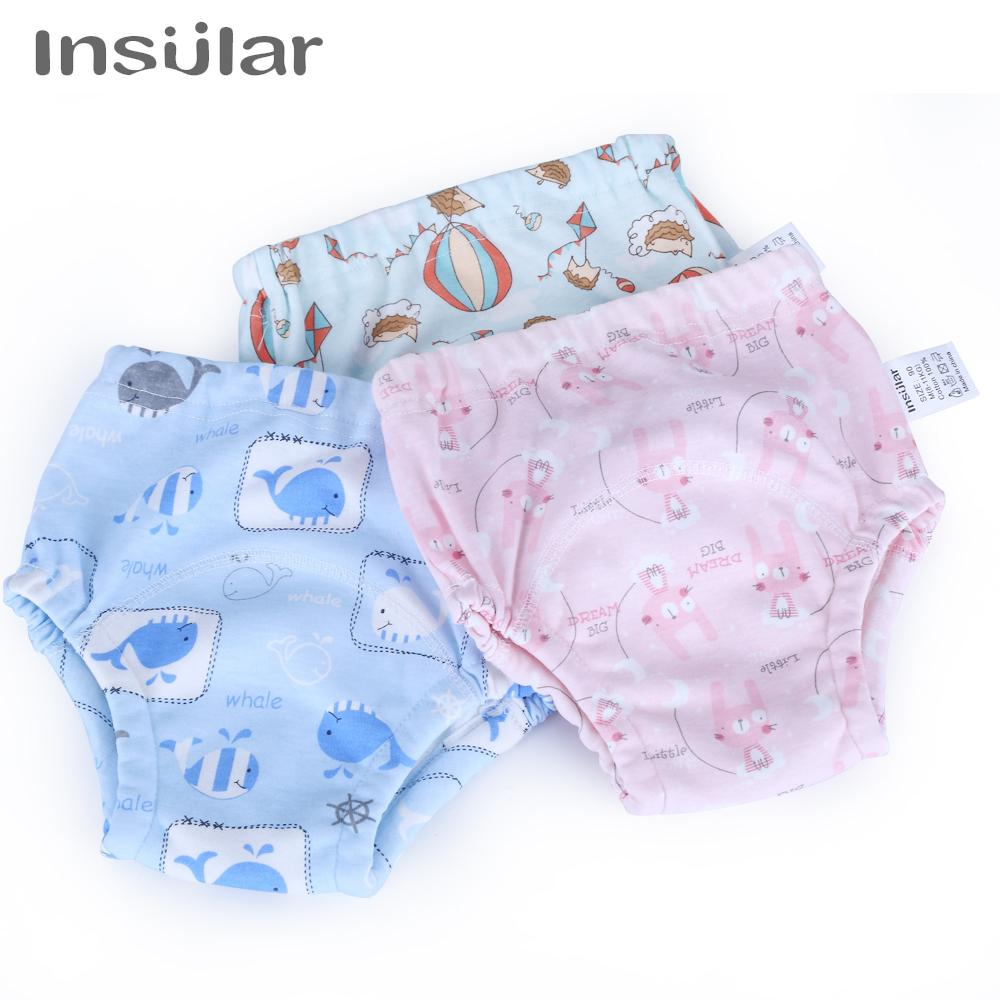 Baby Training Pants 2pcs/Set Baby Diaper Reusable Nappy Washable Diapers Cotton Learning Pants Kids Wear