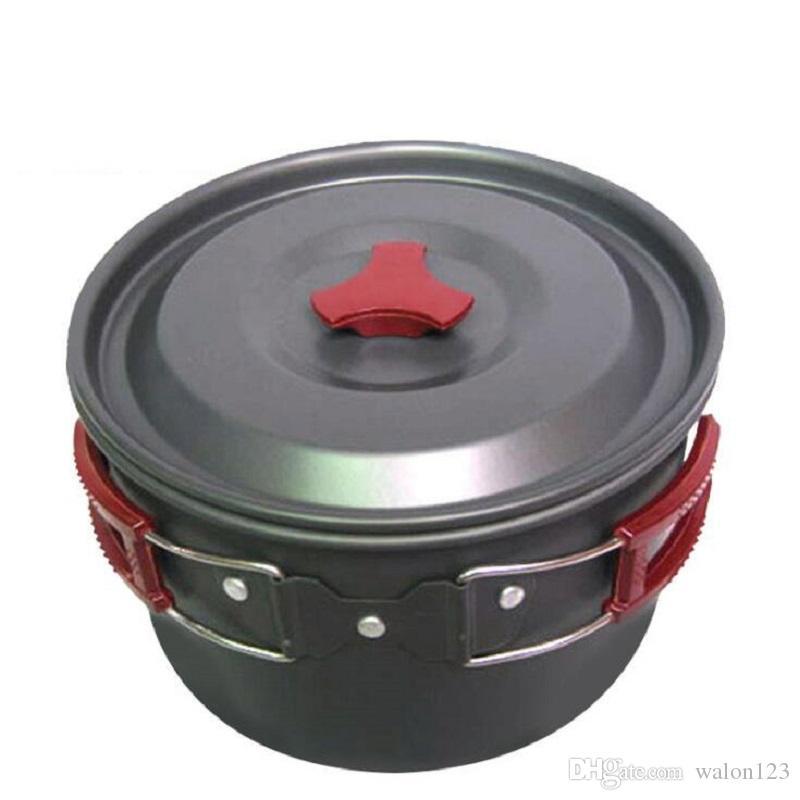 New 3L Aluminium Oxydation Grand pot commun antiadhésif portable randonnée en plein air Camping pêche Alpinisme pique-nique Batterie de cuisine Livraison gratuite