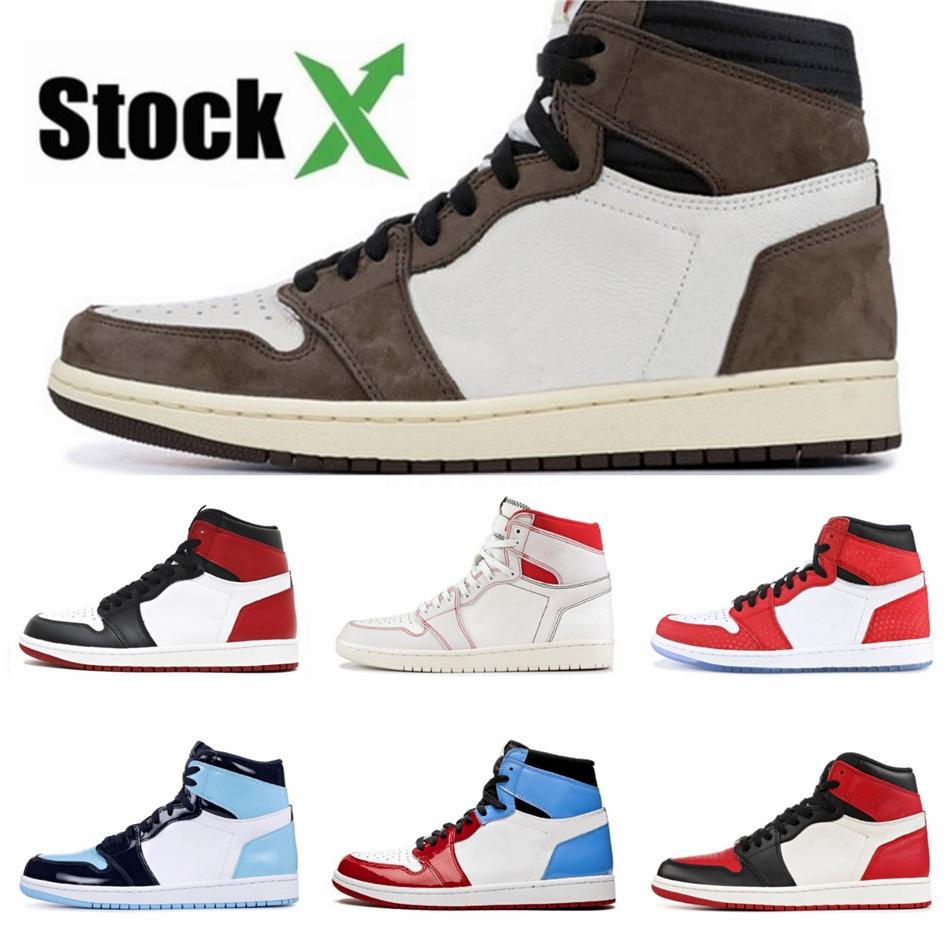 Jumpman 1 High Mens tênis de basquete Og Unc Branco Chicago Nrg L S não para revenda Sem Fotos 1S Sports Designer Sneakers # 197