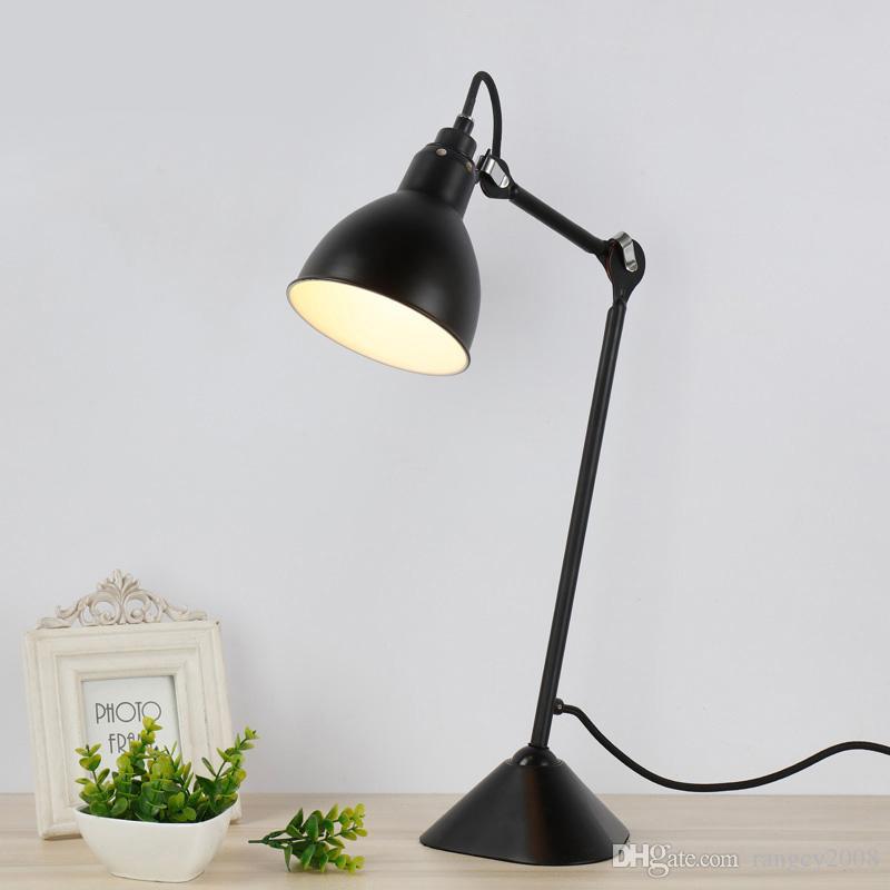 Quarto de cabeceira nórdico estudo lâmpada de mesa personalidade criativa simples pós-moderno ferro forjado decorativo candeeiro de mesa frete grátis