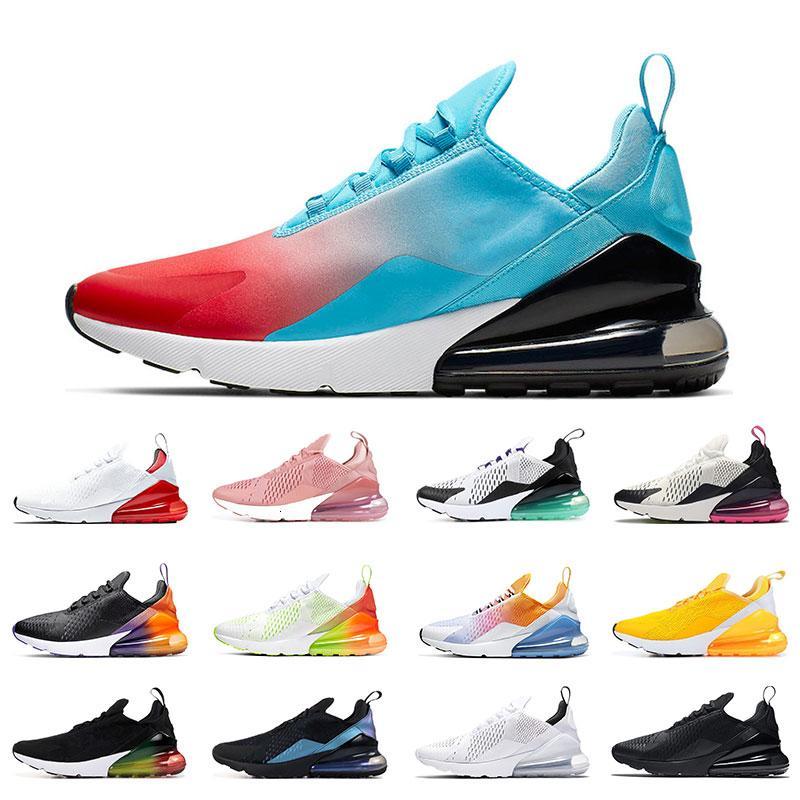Nueva zapatos para correr para hombre transpirable Universidad de triple oro rojo negro blanco Negro arco iris del gradiente voltios Naranja para mujer de las zapatillas de deporte