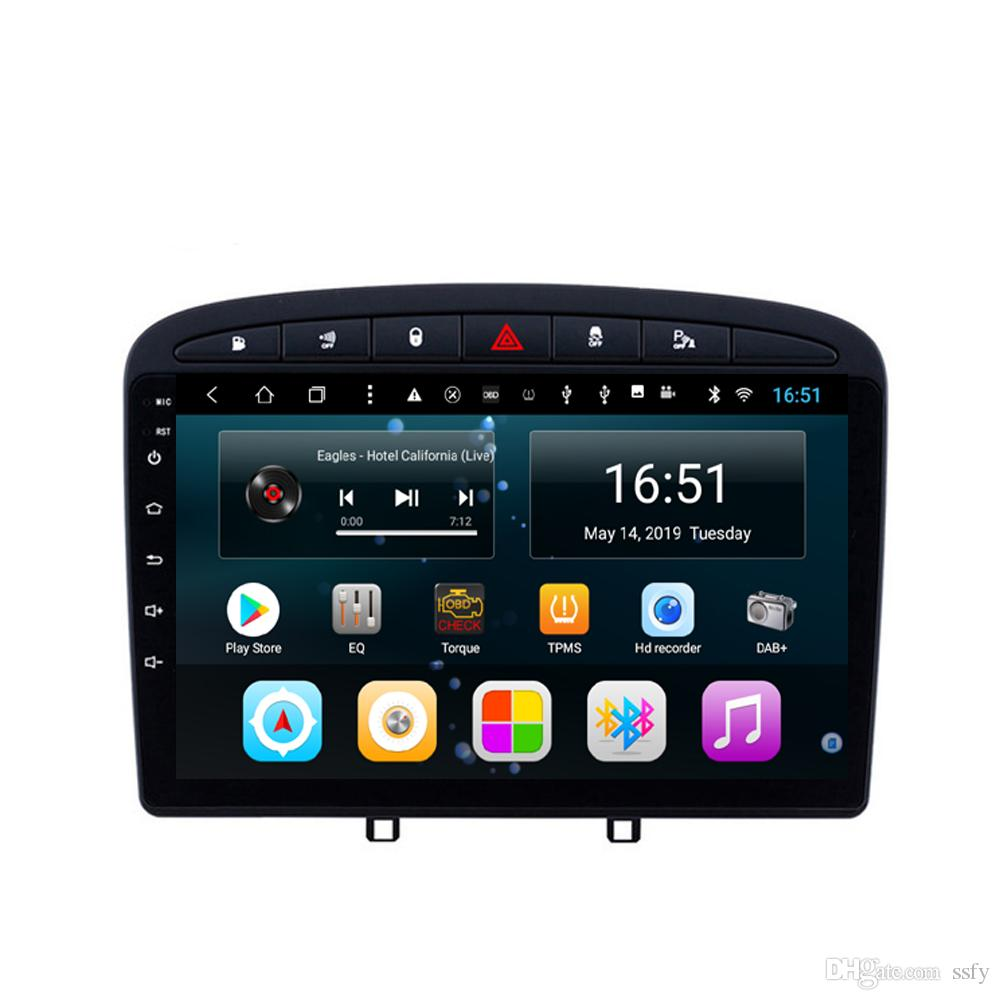 Android 9inch 8-core for peugeot 308 B Car Multimedia Player Radio WIFI Bluetooth GPS Navigation MP3 MP4 player Head Unit