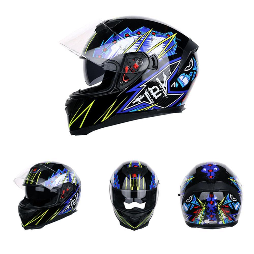 2019 Nouveau Modulable Casque de moto Moto modulaire double objectif Motocross Moto Casque de moto Full Face Casques