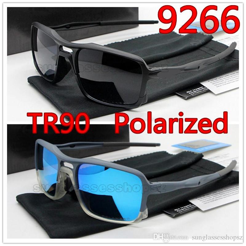 TR90 gafas de sol polarizadas para los hombres de verano la pesca de sombra Campo de corriente del ciclismo gafas de sol bravo asesino vidrios de Sun de 10 colores