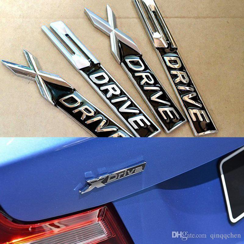 unidad NEGRO metal cromado mate Xdrive X SDRIVE S pegatina emblema unidad de placa de la etiqueta para BMW 3 4 5 6 7 Series X1 X3 X5 X6 E70 E71