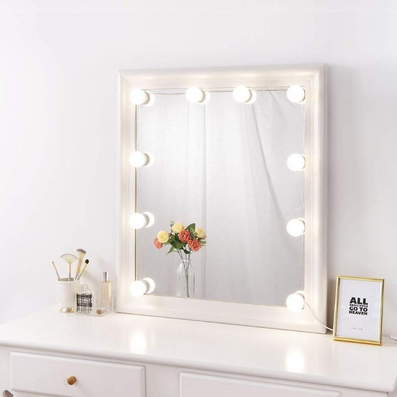 Hollywood Style Vanity Mirror Lights Makeup Vanity Light Kit with 10 Cosmetic Dressing Bulb USB Power Supply in Dressing Room